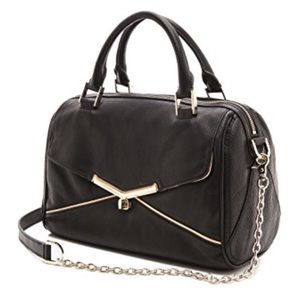 BOTKIER valentina box satchel black leather bag